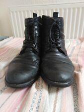 Black men's ankle boots, leather, size 10 G Clarkes