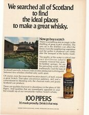 1972 Seagram's 100 Pipers Scotch Whisky Advertisement