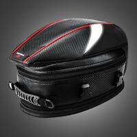 Motorcycle Tail Bag Waterproof PU Rear Seat Bag Luggage Carry Hand Shoulder Bag