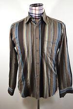 Men's Brown Blue Striped DOLCE & GABBANA Shirt - Size 32/46 - Very Good