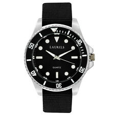 Laurels Cuba Analog Black Dial Men's Watch - Lo-Cub-102