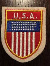 Patch toppa CM8X6 scudetto in stoffa ricamato USA STATI UNITI d'AMERICA
