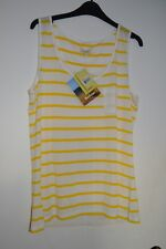 bnwt women's Barbour yellow/white Berryhead vest size UK 16