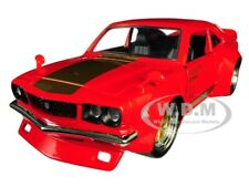 "1974 MAZDA RX-3 RED W/GOLD STRIPE ""JDM TUNERS"" 1/24 DIECAST CAR BY JADA 30718"