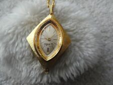 Vintage Swiss Made Chateau Wind Up Necklace Pendant Watch