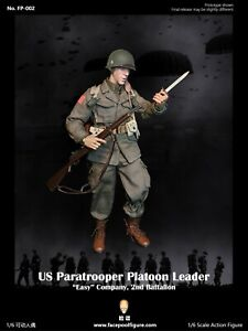 """Facepool 1/6 Scale 12"""" WWII US Paratrooper Platoon Leader  Easy Company FP002A"""