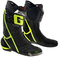 STIVALI MOTO RACING PISTA GAERNE GP1 YELLOW GIALLO FLUO SNODO ANTITORSIONE TG 43