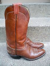 $235 Tony Lama #5084 Chocolate Cow Men's Western Leather Cowboy Boots Size 8 D