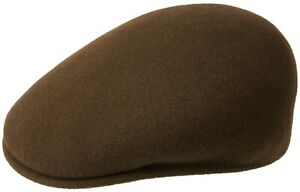Kangol Original 504 Cap Flat Cap Wool Braun New