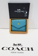 Coach x Peanuts 16121B Snoopy Wallet Pebble Leather Ocean NEW IN COLLECTIBLE BOX