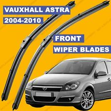 """Flat Aero Wiper Blades Set For Vauxhall Astra H 04-10 Front Windscreen 22""""18"""""""