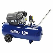 Draper tools/atelier 100L 230V 2.2Kw (3HP) v-twin air compresseur - 65396