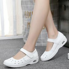 White Womens Breathable Loafer Nurse Work Shoes Hospital Nursing Shoes US Size 7