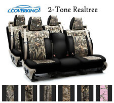 Coverking Custom Seat Covers Neosupreme Front and Rear Row Row - 2-Tone Realtree