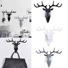 Deer Head Key Self Adhesive Hanger Holder Wall Hook Rack Organizer Mount Home