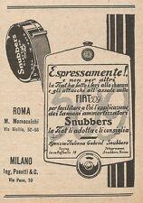 Z2232 FIAT 509 usa ammortizzatori SNUBBERS - Pubblicità del 1927 - Vintage ad