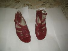 Ladies shoes ' Clarks ' – red – size 6