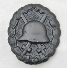 """GERMANY original WW1 era German """"stahlhelm"""" black Wound Badge; EXCELLENT cond"""