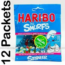 12x Haribo Smurfs Halal Sweets 75g Box of 12 Discount if You Buy More Than One