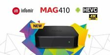 NEW Infomir MAG410 MAG 410 UHD 4K Video IPTV OTT Streamer BOX Android wifi
