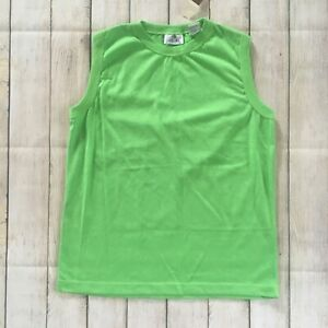 NWT Vintage 70s 80s Sportswear Fashion Force Lime Green Size Medium Tank Top