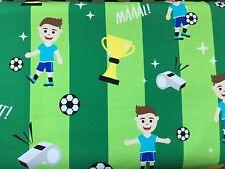 "25 cm Jerseystoff Hilco Shirt ""Soccer Spirit - Boyhood"" Fußball Junge Auf Grün"