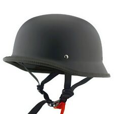 Unisex Adult German Style Half Face Motorcycle Bike Scooter Driver Helmet