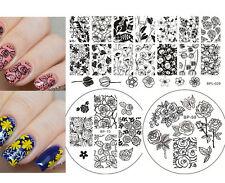 3pcs/set Roses Theme Nail Art Stamp Plates  Template DIY Born Pretty