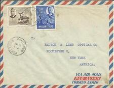 Mauritius SG#287,#283 Port Louis, 14/MR/51 Airmail to USA