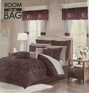 NEW Madison Park Essentials Joella Room in Bag NO Pillows NO Valances KING 18 pc
