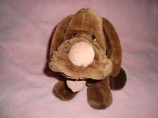 """Wrinkles Dog Vintage 1984 Heritage Plush Brown Dog 9"""" #346426"""