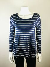 abbc768e837e8 JOIE Blue Striped Size Small Long Sleeve Top