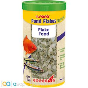 sera Pond Flakes Nature 1000mL All Natural Fish Food Flake for Smaller Pond Fish