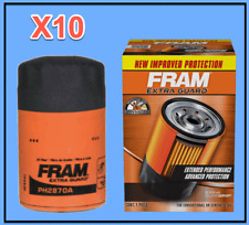10 X Engine Oil Filters Extra Guard FRAM For AMC Audi BMW LOTUS VW W. Gasket