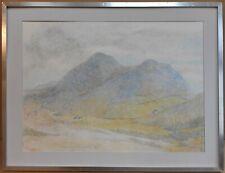 Beara Mists, County Cork, Ireland. Original Pastel, monogramed ES circa 1980