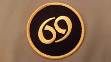 69 embroidered iron on patch