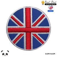 United Kingdom Round National Flag Embroidered Iron On Sew On Patch Badge