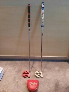 Pinfire Liberty golf x2 putters superstroke grip used 2ball silver & red