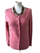 Gap Size Medium Pink Long Sleeved Scoop Neck Button Front Cardigan