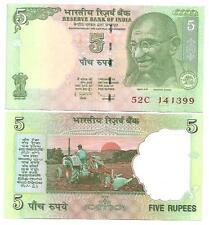 """INDIEN INDIA 5 RUPEES 2009 LETTER """"E"""" UNC P 88"""