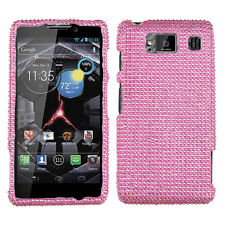 Motorola DROID RAZR HD XT926 Diamond Crystal BLING Hard Case Phone Cover Pink