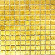 Mosaico piastrella vetro oro muro cucina bagno: 120-0742_b | 1 foglio