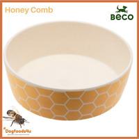 Beco eco biodegradable dog bowl - Large Honey Comb - Natural - Dogfoods4u