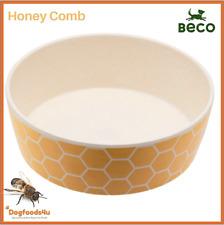 Beco eco biodegradable dog bowl - Small Honey Comb - Natural