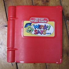 "Mattel See N Say Story Maker ""Winky Says"" Talking Book Toy Vintage 90s 1991 Red"