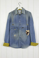 NEW VIVIENNE WESTWOOD ANGLOMANIA X LEE  DENIM SHIRT SIM FIT LIGHT BLUE M MEDIUM
