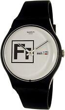 Swatch Men's Voice Of Freedom SUOB722 Black Silicone Swiss Quartz Watch