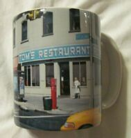 TOM'S RESTAURANT CERAMIC COFFEE MUG NEW YORK CITY Broadway &112 th- Seinfeld