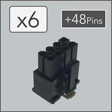 x6 8 pin Female PCI-e GPU Power Connector Socket - Black + 48 Pins