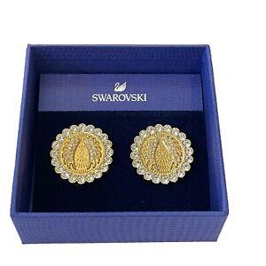 Swarovski Crystal Lucky Goddess Round Clip On Earrings 5464120